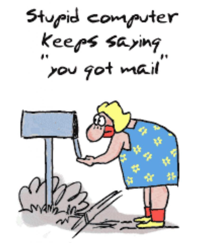 The digital immigrant prefers more traditional ways for sending mail.
