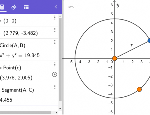 Drawing And Constructing Triangels With GeoGebra